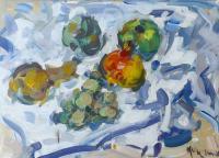 Quadro di Enzo Pregno - Frutta  olio tela
