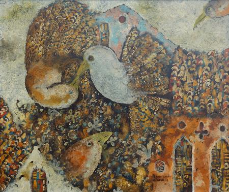 Quadro di Raimondo Cardelli primavera - olio tela