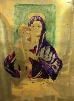 Work of Luigi Pignataro - Madonna con bambino acrylic copper