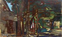 Work of Raffaele De Rosa  - All'ombra di un albero oil table