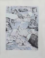 Work of Antonio Possenti - La mano dell'artista lithography paper