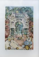 Work of Antonio Possenti - Il giardino delle meraviglie lithography paper