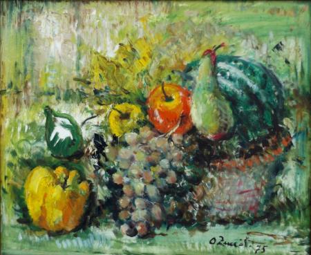 Art work by Oreste Zuccoli Natura morta  - oil canvas