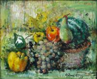 Quadro di Oreste Zuccoli - Natura morta  olio tela