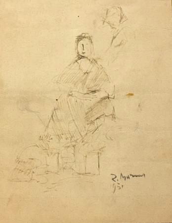 Quadro di Rodolfo Marma Figura - china carta