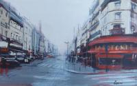 Work of Claudio Cionini - Montparnasse mixed cardboard