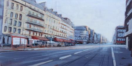 Art work by Claudio Cionini Boulevard du Montparnasse - mixed table
