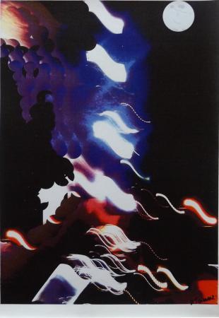 Quadro di Andrea Tirinnanzi Fari nella notte - ink jet tela