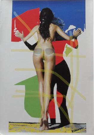 Art work by Andrea Tirinnanzi Sabrina - ink jet canvas