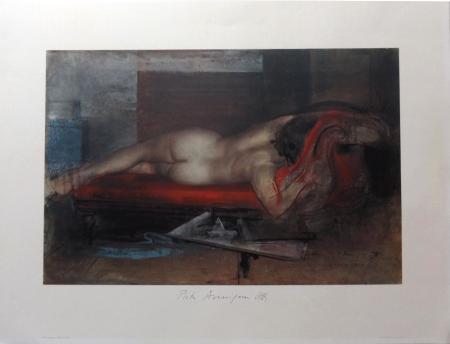 Art work by Pietro Annigoni Studio di nudo  - print paper