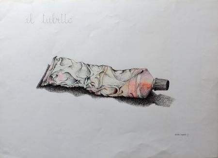 Quadro di Massimo Signorini Il tubetto - stampa carta