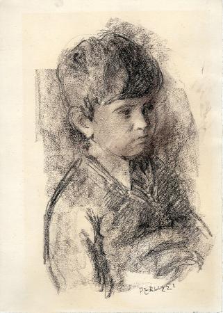 Quadro di Cesare Peruzzi Ritratto di bambino - stampa carta