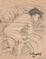 Quadro di Guido Borgianni  nudo su letto1960