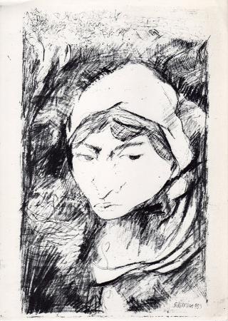 Quadro di Natale Filannino Figura di donna - stampa carta