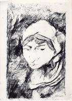 Quadro di Natale Filannino - Figura di donna stampa carta