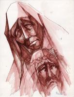 Quadro di C. Clementi - Cristo pennarello carta