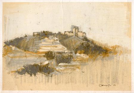 Quadro di firma Illeggibile Castelli e quiete - Pittori contemporanei galleria Firenze Art