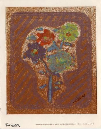 Quadro di Gin Torres Fiori - litografia carta