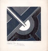 Quadro di Giuseppe Calonaci - Natale 1975 litografia carta