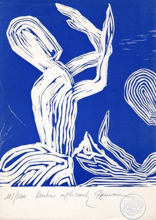 Art work by firma Illeggibile Ombre supplicanti - incision paper