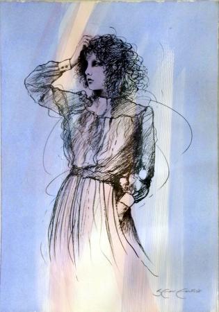 Quadro di Riccardo Benvenuti Figura femminile  - mista carta