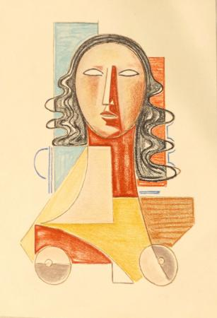 Art work by Mario Tozzi Prova d'Autore  - lithography paper
