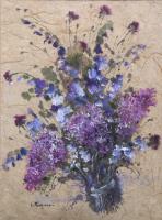 Luciano Pasquini - Composizione di fiori viola