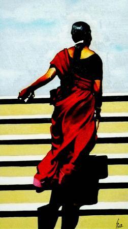 Quadro di Paolo Lenti Un giorno torneremo a rivedere le stelle - Pittori contemporanei galleria Firenze Art