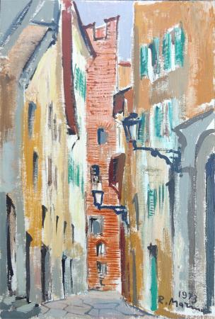 Quadro di Rodolfo Marma Vicolo del Panico - Pittori contemporanei galleria Firenze Art