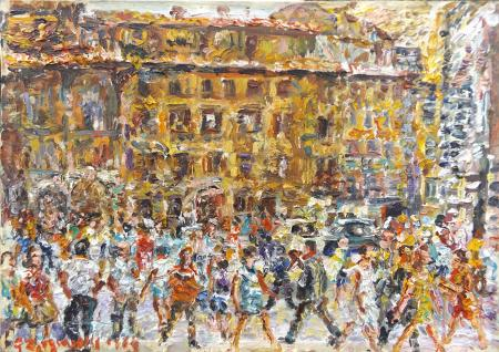 Art work by Guido Borgianni Piazza Duomo - oil canvas