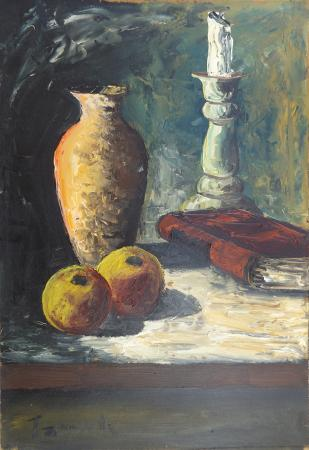 Art work by Sauro Tasselli Natura Morta - oil table