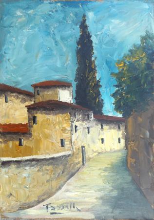 Quadro di Sauro Tasselli Paesaggio toscano - Pittori contemporanei galleria Firenze Art