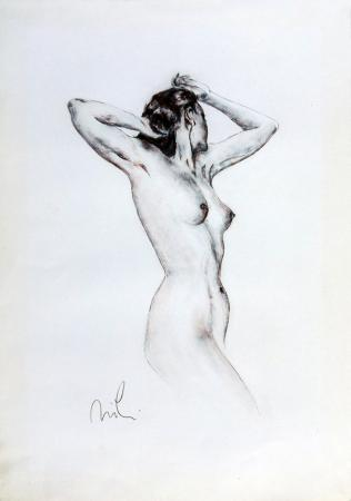 Quadro di firma Illeggibile Nudo femminile - Pittori contemporanei galleria Firenze Art