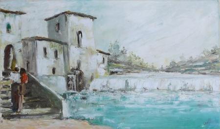 Quadro di Giuseppe Canilli Città - olio tela