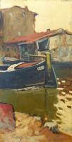 Work of Basso Ragni - Canale di Venezia oil canvas