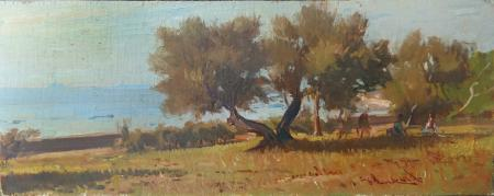 Art work by Giorgio Luxardo Tamerici d'Antignano - oil table