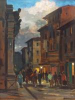 Work of Renato Natali - Via della Madonna oil table