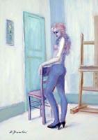 Quadro di Umberto Bianchini - Susy olio tela