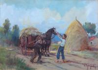 Work of Ledo Gragnoli - Campagna oil canvas