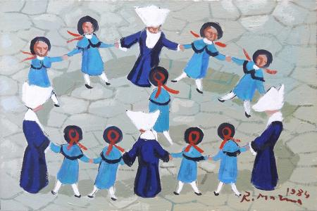 Art work by Rodolfo Marma Girotondo - oil canvas cardboard