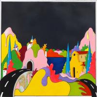 Quadro di Luca Albizi - Il ponte olio tela