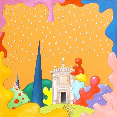 Quadro di Luca Albizi Monumento - olio tela