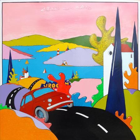 Quadro di Luca Albizi Vrooom - olio tela