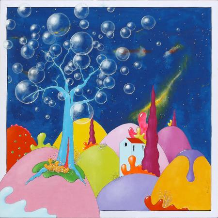 Quadro di Luca Albizi L'albero delle bolle - olio tela