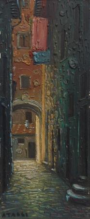 Quadro di A. Tassi Vicolo  - mista tavola