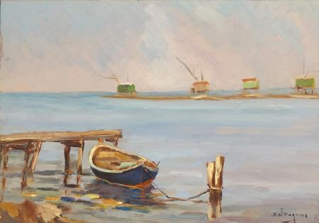 Art work by Livio  Battaglini Marina - oil table