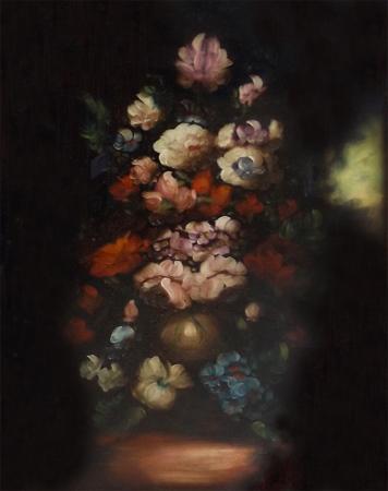 Quadro di  Anonimo Composizione di fiori - olio tela