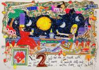 Quadro di Francesco Musante - Noi due, solo noi due litografia polimaterica carta