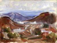 Quadro di Giorgio Polykratis  Paesaggio