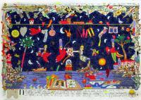 Quadro di Francesco Musante - Notte magica litografia polimaterica carta